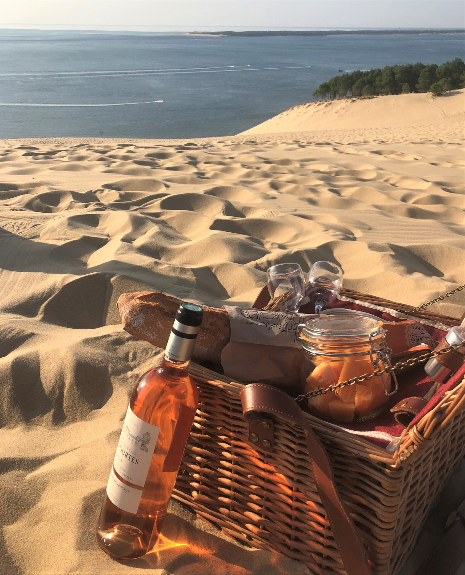 Picnic with local delicacies in a remarkable setting